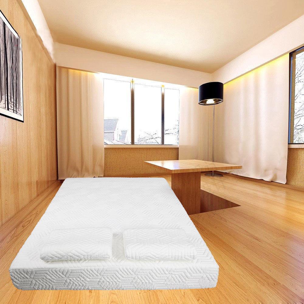 """Ktaxon 10"""" Twin Size COOL Medium-Firm Memory Foam Mattress 2 Pillows + Cover"""