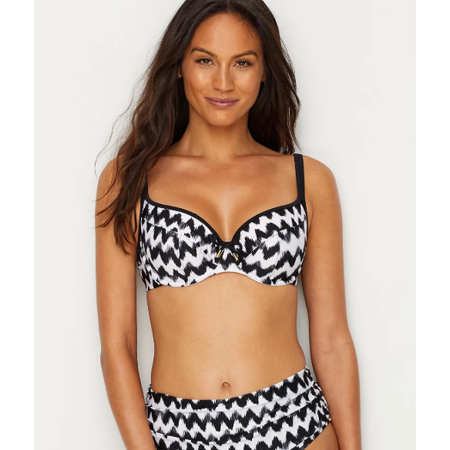 8324b1914aa31 Panache Black/White Leila Balconette Bikini Top, Size US 36H - Walmart.com
