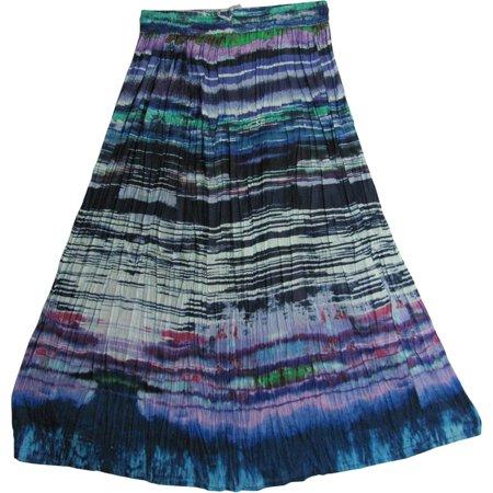 - JK Indian Cotton Crinkle Broomstick Bohemian Gypsy Long Skirt #3