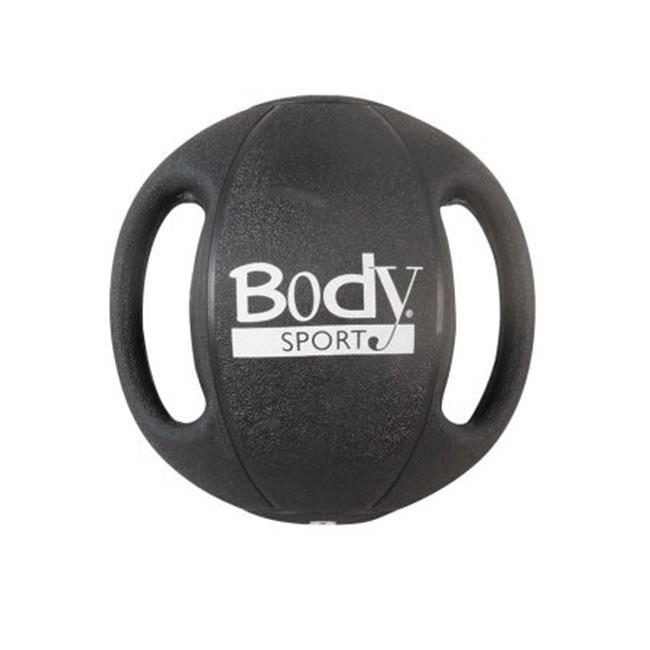 Body Sport ZZRMB06DG 6 lbs Double Grip Medicine Ball, Black