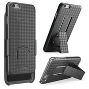 iPhone 6 Plus Case, i-Blason [Transformer] iPhone 6 Plus (5.5) Case Slim HolsterKickstand [Holster Combo] Textured Finish [Better Grip] - Slim Case for iPhone 6 Plus 5.5 inch (Black)
