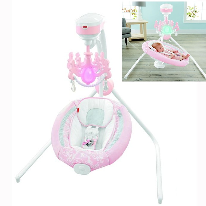 Fisher Price Pearl Chandelier Cradle 'N Swing Pink: New by By Fisher Price