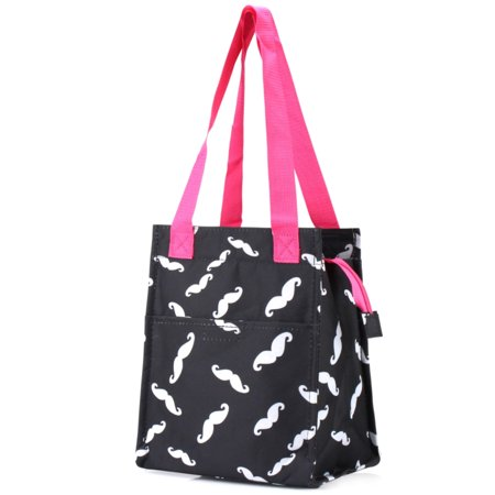 Zodaca Fashion Insulated Lunch Bag Women Tote Cooler Picnic Travel Food Box Zipper Carry Bags For