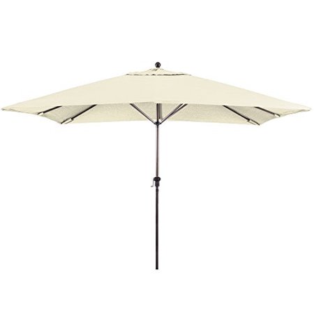 Eclipse Collection 11X8 Rectangular Aluminum Market Umbrella Bronze/Sunbrella/Canvas ()