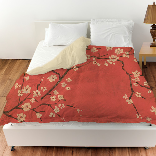 Manual Woodworkers & Weavers Golden Cherry Blossom Duvet Cover