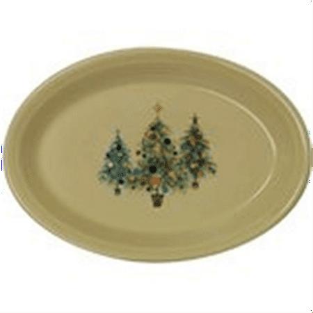Fiesta 13-5/8-Inch Oval Platter, Christmas Tree (Christmas Fruit Platter)