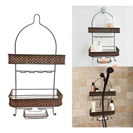 Decor Hut Shower Caddy with Soap Holder, Hang Over Shower Head, 2 ...