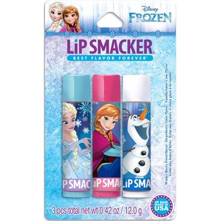 Lip Smacker Disney Frozen Baume à lèvres, 3 comte, 0,42 oz
