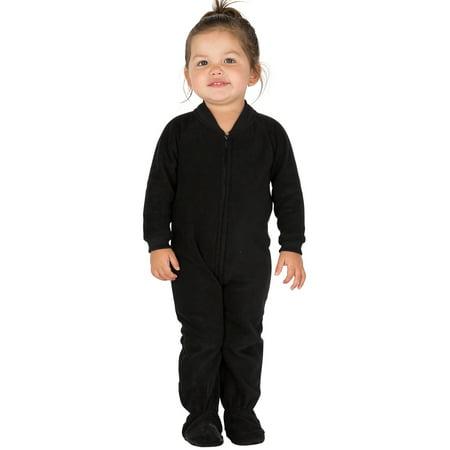 78693cc1b Footed Pajamas - Midnite Black Infant Fleece Onesie - Walmart.com