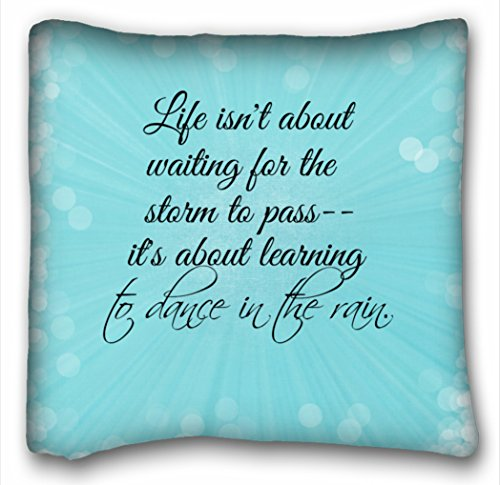 Rylablue Pretty Blue Splash With Bokeh Lightand Life Quote Pillow Decorative Inspirational Quotes Pillow Cover Square Quotes Zippered Pillowcase Size 18x18 Inches Two Side Print Walmart Canada