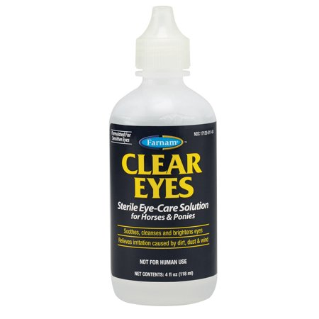 Clear Eyes Sterile Eye Solution 4oz Equine Horse Relieves Irritaiton Safe Gentle