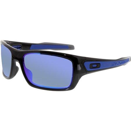 Oakley Men's Turbine OO9263-05 Black Wrap Sunglasses