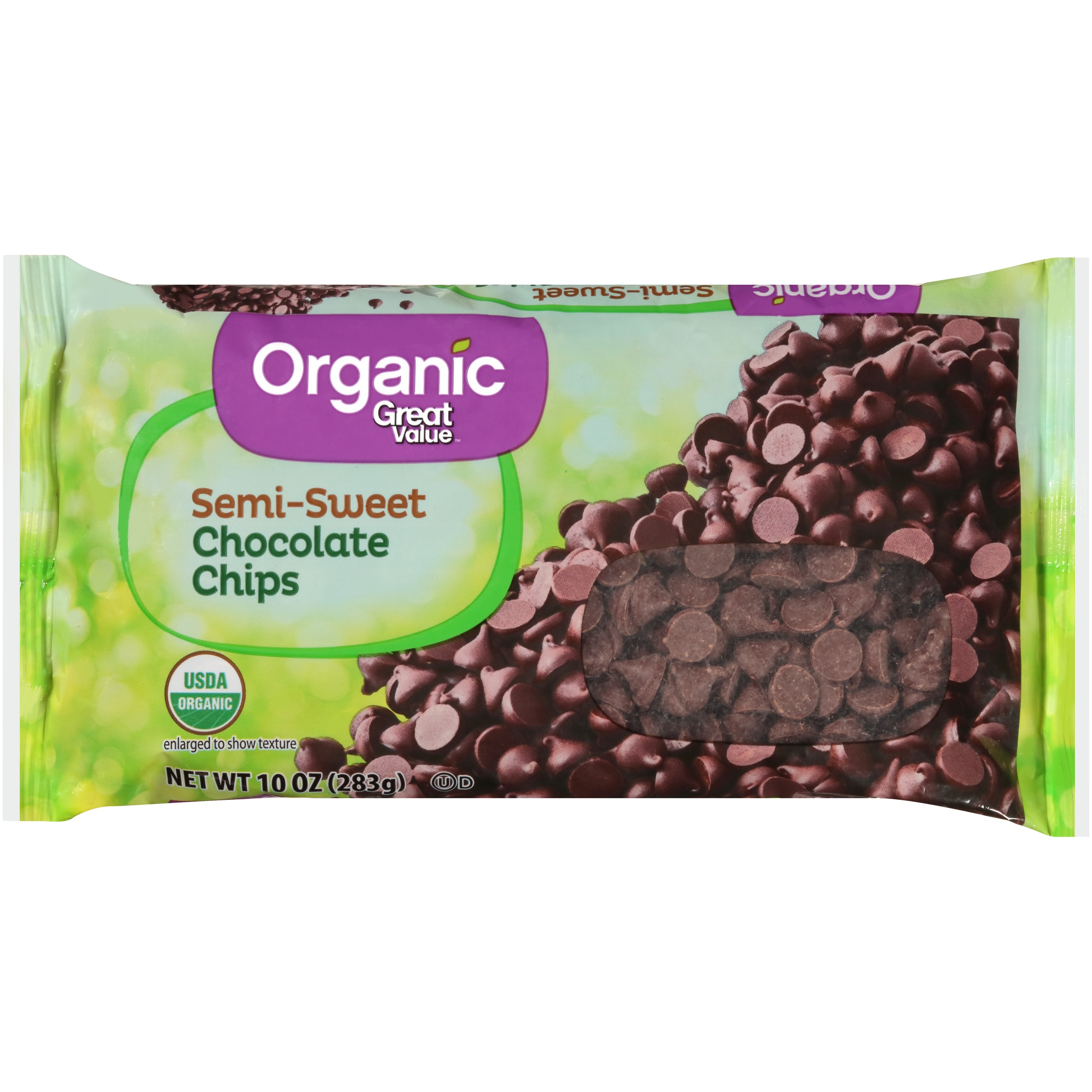 Great Value Organic Semi-Sweet Chocolate Chips, 10 oz