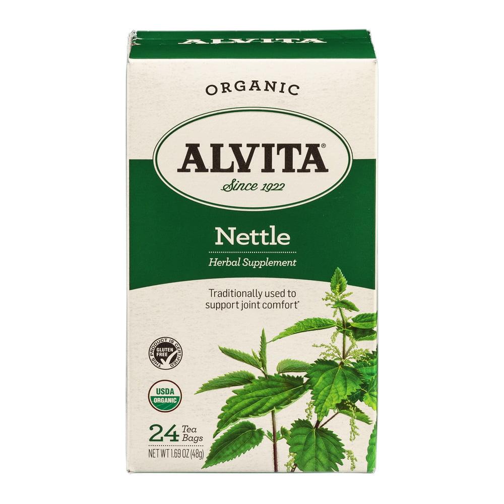 Alvita Herbal Supplement Nettle Tea Bags - 24 CT