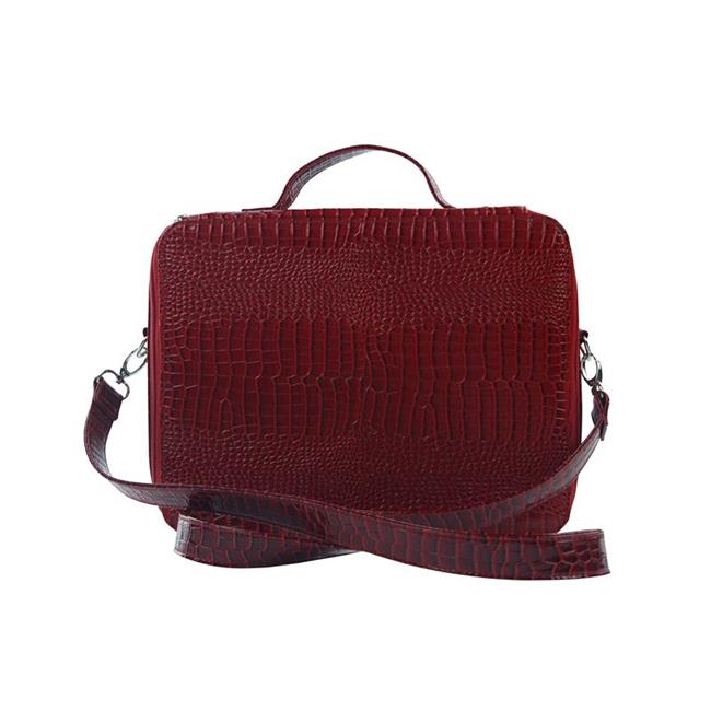 Picnic Gift 7122-RD Cosmopolitan-Insulated Adjustable Make Up Travel Organizer, Red Croc - image 1 of 1