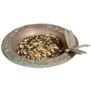 Whitehall Products 30059 Dragonfly Garden Bird Feeder - Copper Verdi