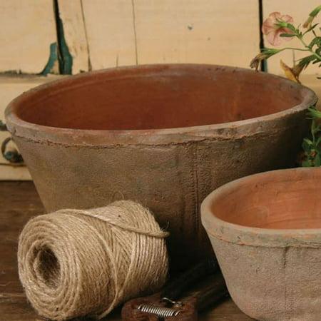 Medium Pot (HomArt Rustic Terra Cotta Oval Pot, Medium, Antique Red, 1-Count)