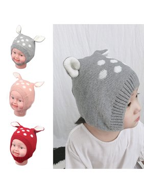 0533bacfe5e Product Image Moderna Winter Baby Boy Girl Beanie Hat Warm Cute Rabbit Ear  Toddler Knitted Cap Gift