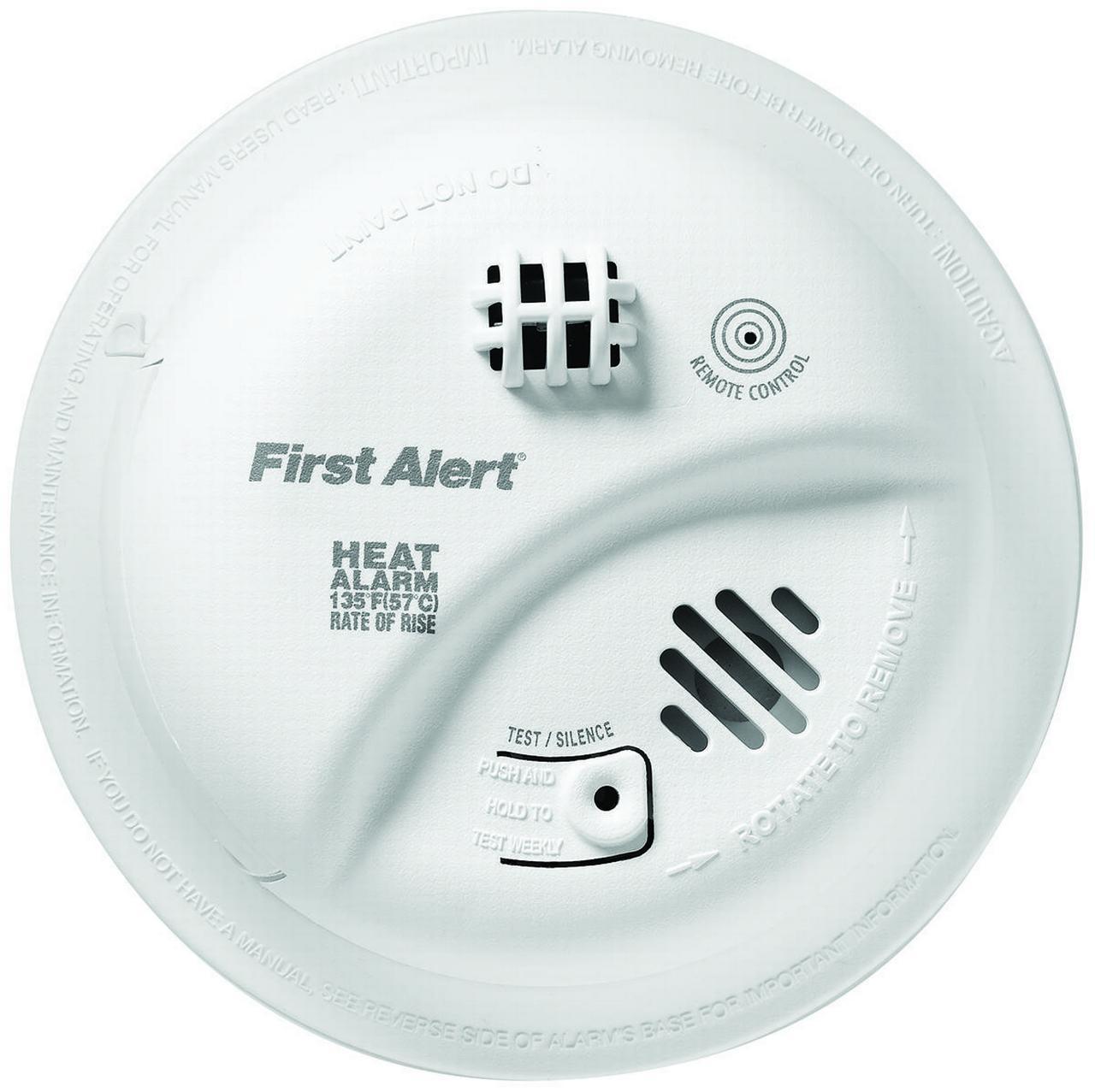 BRK HD6135FB Rate-of-Rise Heat Alarm, 135 deg F, 85 dB, Thermistor LED Display