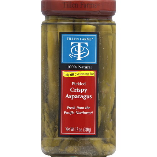 Tillen Farms Pickled Crispy Asparagus, 12 oz (Pack of 6)