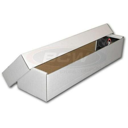 BCW 800 Count ct 2-Piece Box Corrugated Cardboard Storage Box