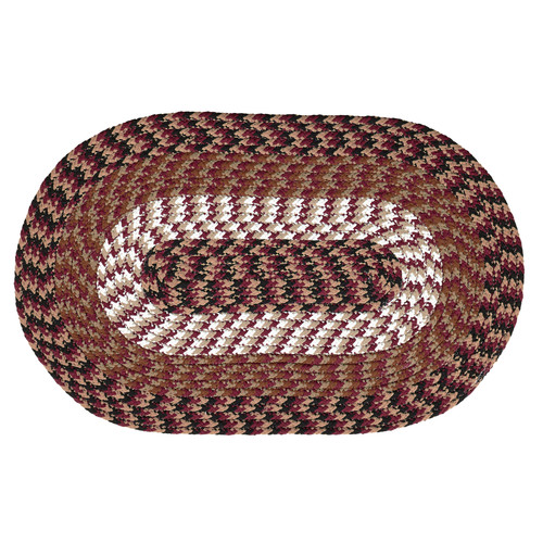 "ALPINE 20"" x 30"" BRAIDED RUG - BURGUNDY"