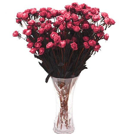 15 Stems Artificial Fake Full Blooming Rose Flower Bouquet Home Office Decoration Country Style