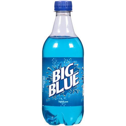 Big Red Blue Soda, 20 fl oz