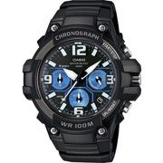 Men's Rugged Chronograph Watch, Black/Blue