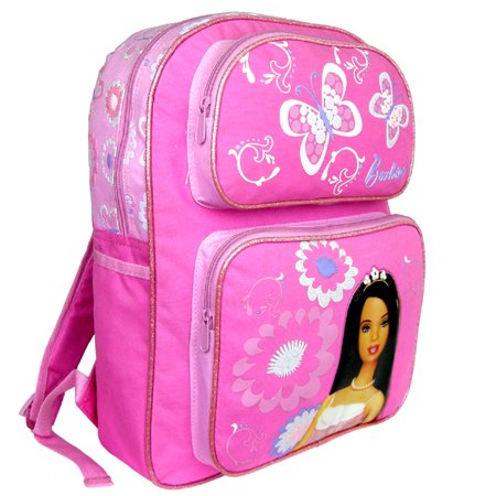 Barbie Large Backpack with Water Bottle - Barbie Book Bag