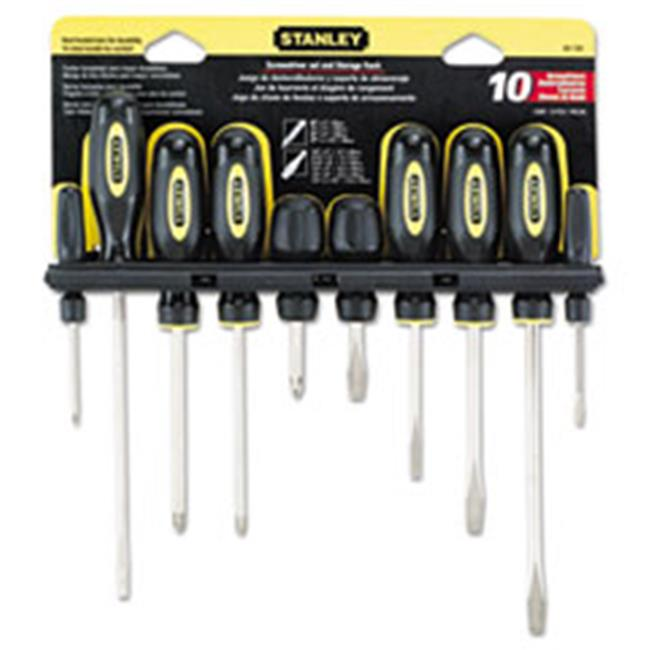 Stanley Bostitch 60100 Standard Fluted Screwdriver Set, Phillips & Slotted - 10 Piece