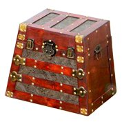 Antique Pyramid Wooden Trunks - Small