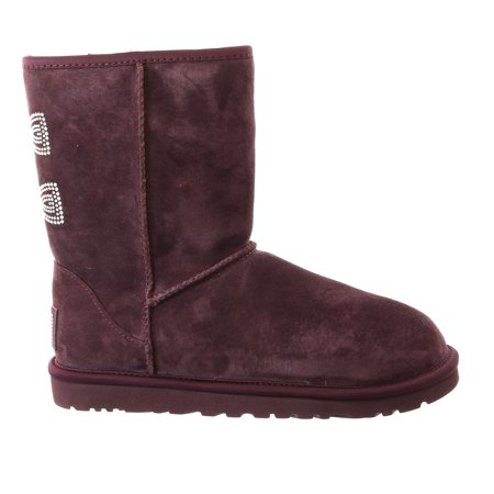 UGG Australia Classic Short Crystal Bow Boot - Purple Port - Womens