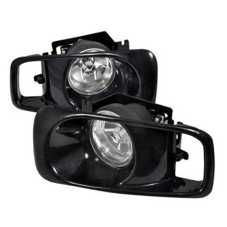 OEM Fog Lights for 99 to 00 Honda Civic, Clear - 10 x 12 x 18 in.