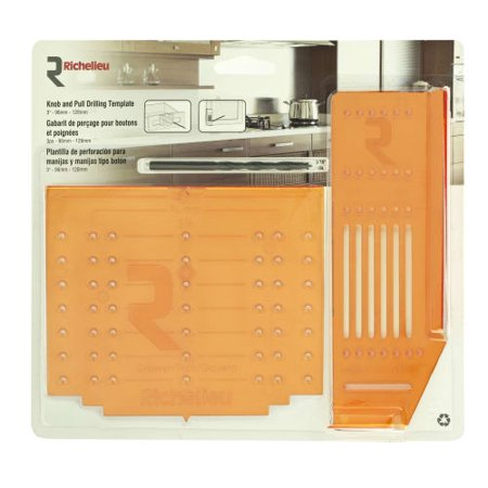 Knot Template - Richelieu RICTEMPVPACK Cabinet Drawer and Door Drilling Template Kit for 3