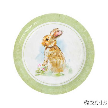 Vintage Easter Bunny Dinner Party Plates](Bunny Party Supplies)