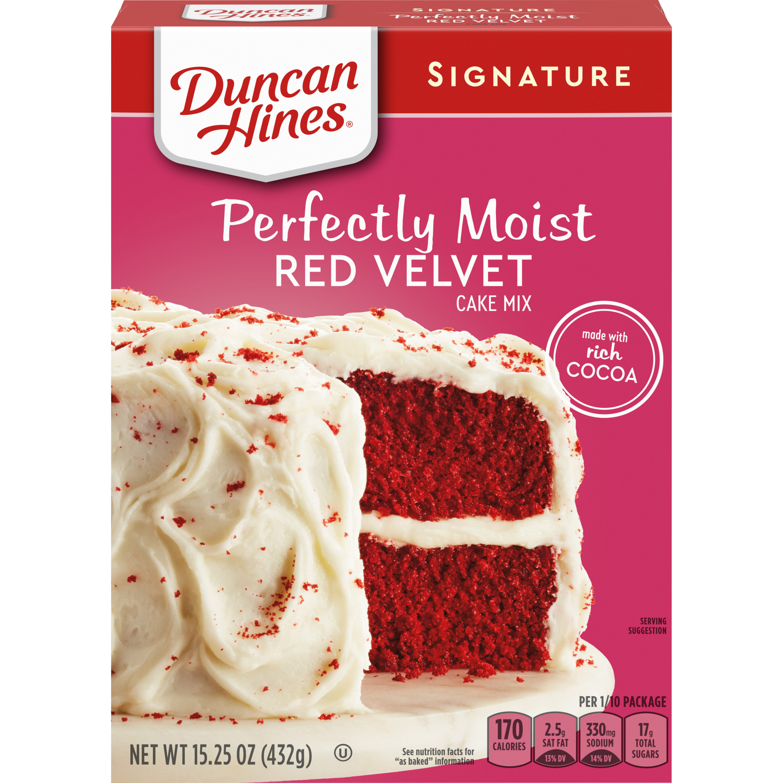 Duncan Hines Red Velvet Cake Mix 15.25 oz Box