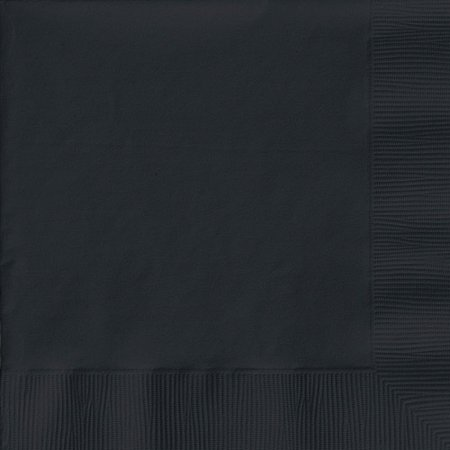 Creative Expressions Luncheon Napkins 50-Pack, Black Velvet (Black Napkins)