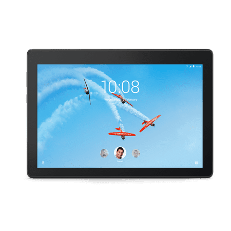Lenovo Tab E10, 10u0022 Android Tablet, Quad-Core Processor, 16GB Storage, Slate Black