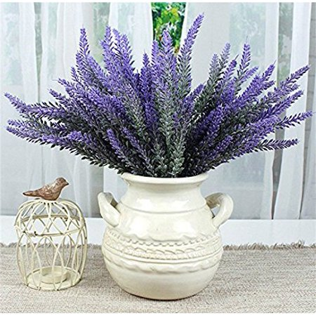 Artificial Flowers Lavender Bouquet In Purple Plant For Home Decor Wedding Garden