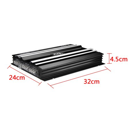 Powerful 5800 Watt 4 Channel 12V Car High Power Stereo Audio Amplifier Amp Speaker Subwoofer Stereo Amp For Car Auto Vehicle Support 4 Speakers 2/4 Ohm - image 7 of 13