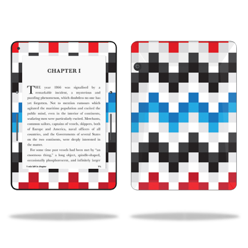 MightySkins Protective Vinyl Skin Decal for Amazon Kindle Voyage cover wrap sticker skins Aztec Blocks