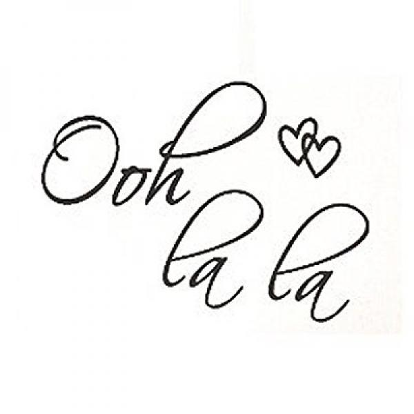 SODIAL(R) OOH LA LA Paris France Hearts Love Quote Vinyl Wall Decal Decor Art Sticker G250