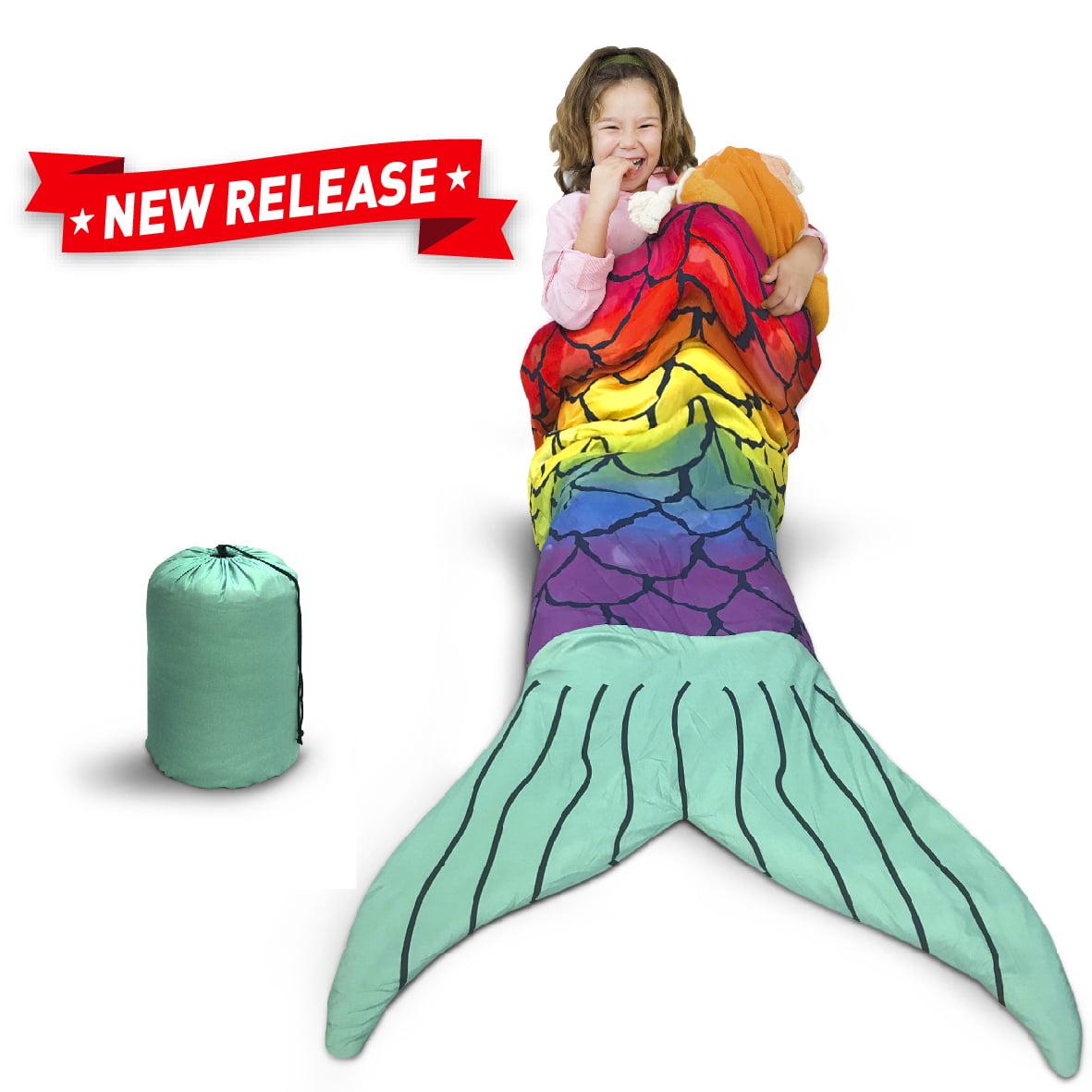 Mermaid Sleeping Bag – Kids Sleeping Bag – Slumber Party Sleeping Bag with Mermaid Tail
