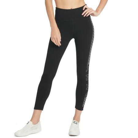 Dkny Womens Sport High-Waist Studded Logo Leggings Rose Gold