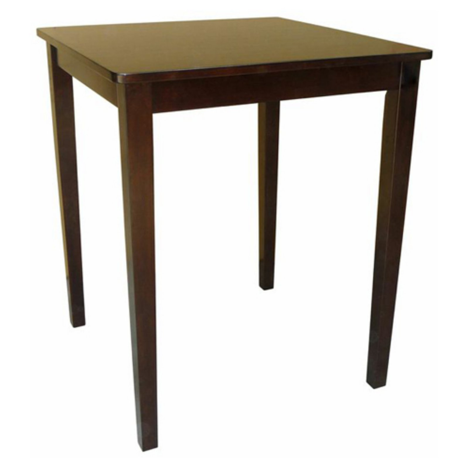 International Concepts Rives Shaker Styled Counter Height Dining Table - Square with Straight Legs - Rich Mocha