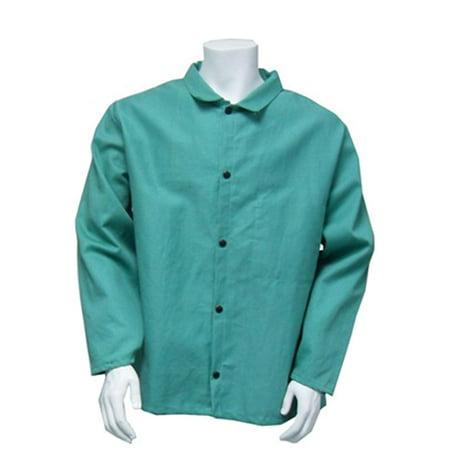 "Chicago Protective Apparel 30"" FR 100% Cotton Welding Coat 2XL"