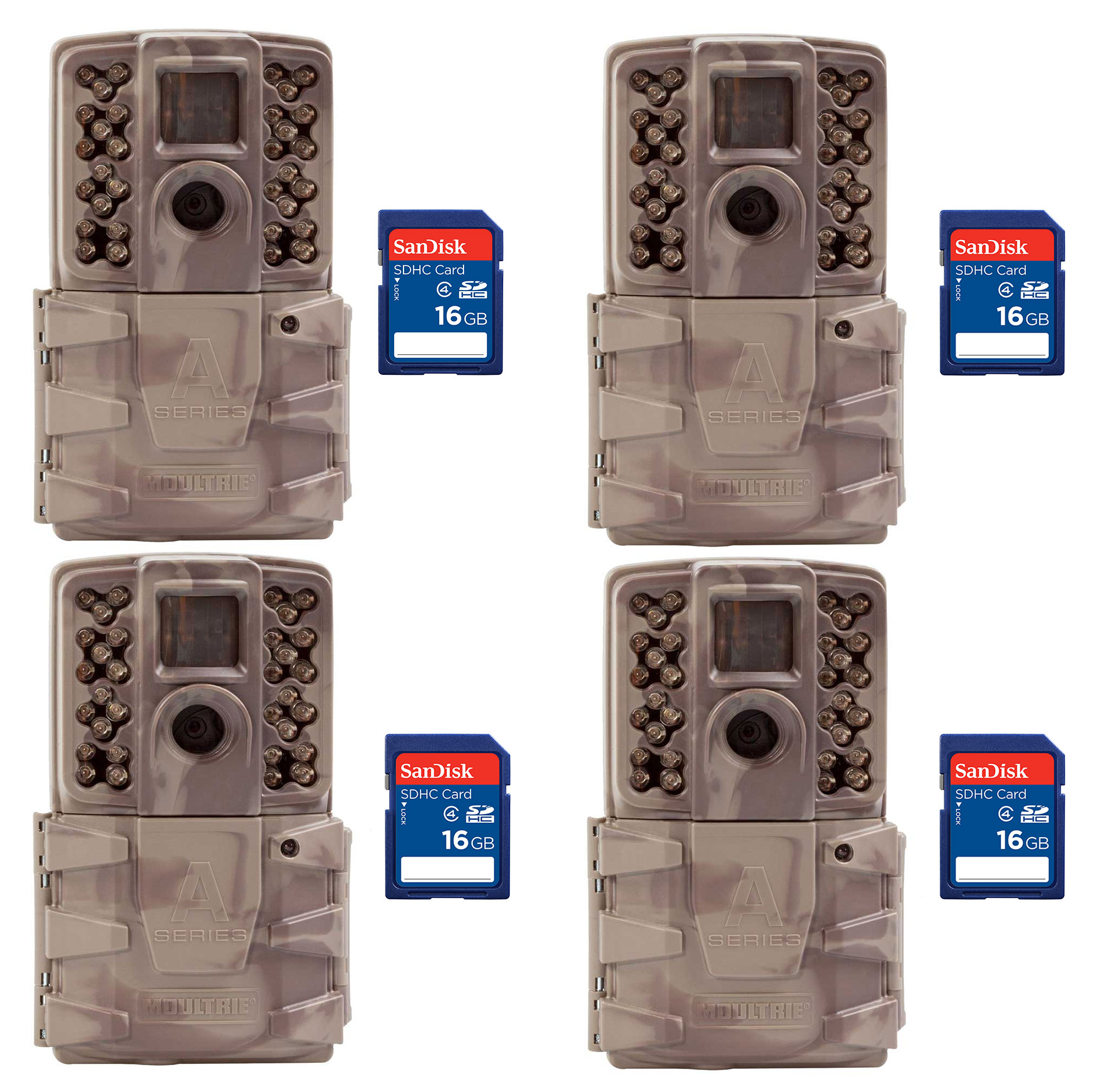 Moultrie A30i 12MP 60' Video No Glow Game Trail Camera, 4...