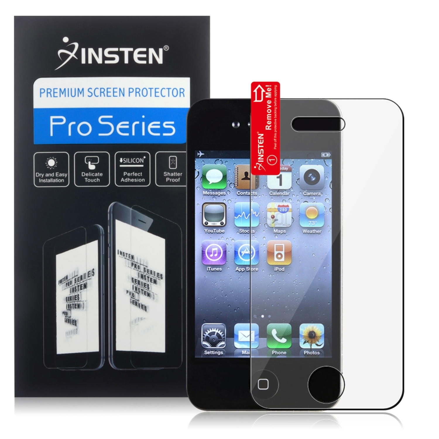 Insten Clear Transparent New Anti-Scratch Screen Film Guard Shield Cover Protector For iPhone 4 4s