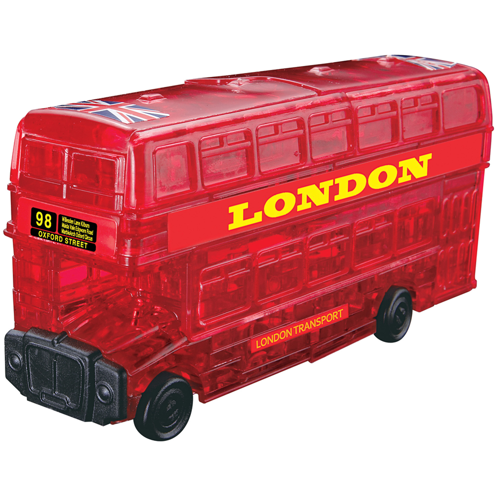 3D Crystal Puzzle Red London Bus Puzzle, 53 Pieces